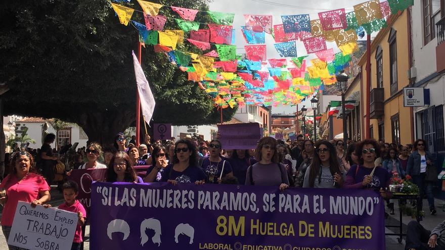 Manifestación feminista este viernes en Los Llanos.