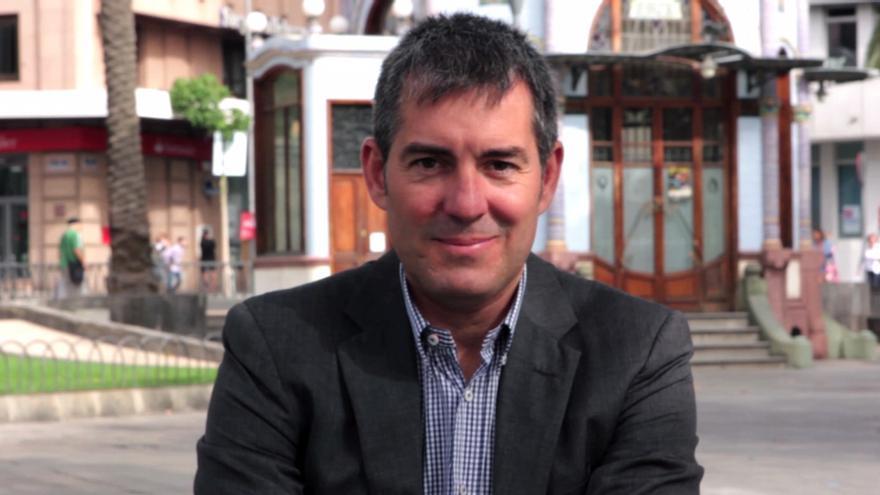 El candidato de Coalición Canaria a la Presidencia del Gobierno de Canarias, Fernando Clavijo. (Foto: Marina Cardenal).