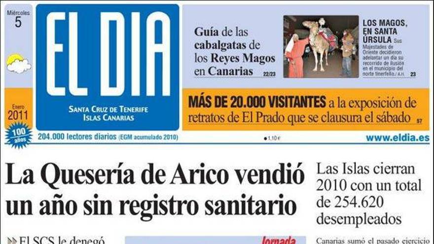 De las portadas del día (05/01/2011) #3
