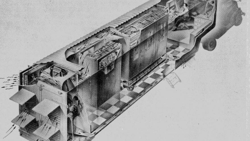 DYSEAC,  un modelo anterior al MOBIDIC construido por la Oficina Nacional de Estándares estadounidense, no pasó de ser un prototipo