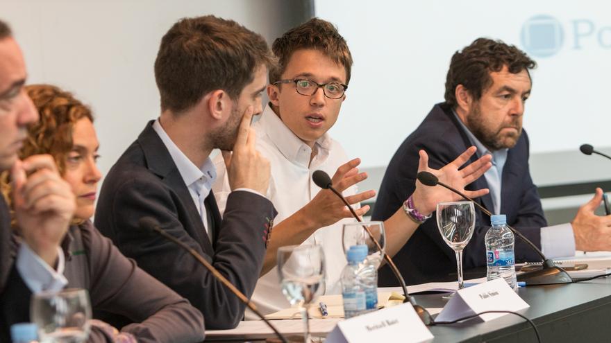 Martínez, Batet, Simón, Errejón y Gutiérrez, durante el debate organizado por Politikon.