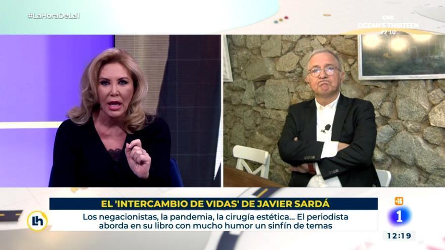 Norma Duval y Javier Sardà en 'La hora de La 1'jpg