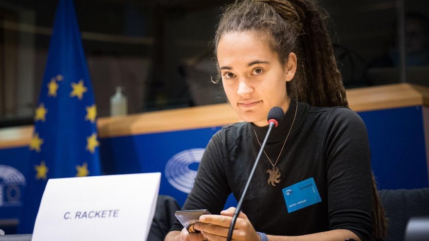 Carola Rackete, en el Parlamento Europeo, el 3 de octubre de 2019.