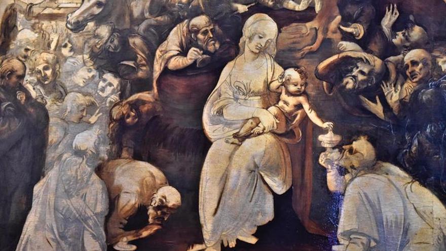"""""""Adoración de los Magos"""" de Leonardo desvela sus secretos al volver a los Uffizi"""