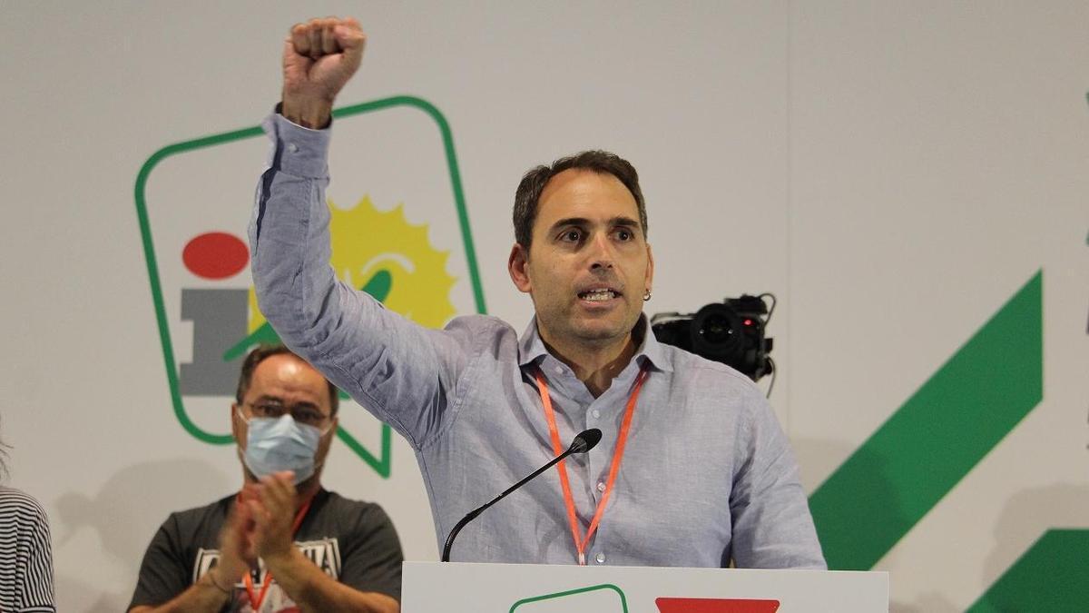 Valero, tras ser reelegido coordinador general de IU Andalucía