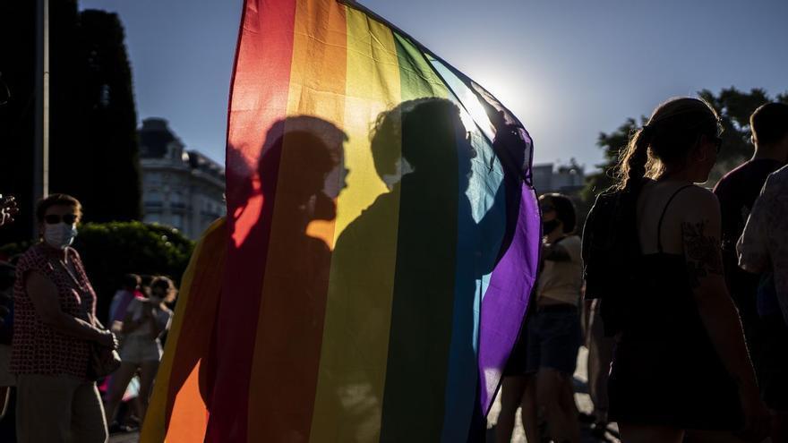 Manifestantes durante las protestas convocadas por el Orgullo Crítico en Madrid.