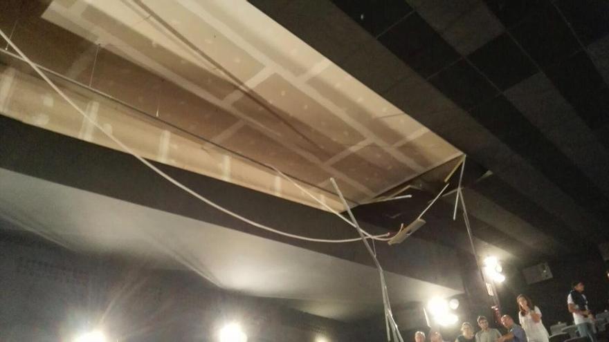 La sala 3 del Cine Proyecciones en el momento del accidente. Foto: Joel Cava