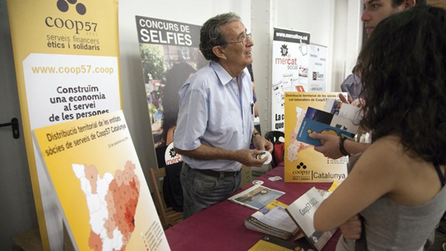 Coop57, en la Feria de Economía Solidaria de Barcelona. FOTO: EVA SANLEANDRO .