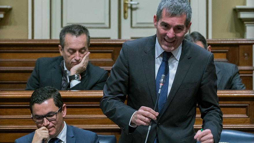 Bancada de Coalición Canaria en el Parlamento de Canarias.