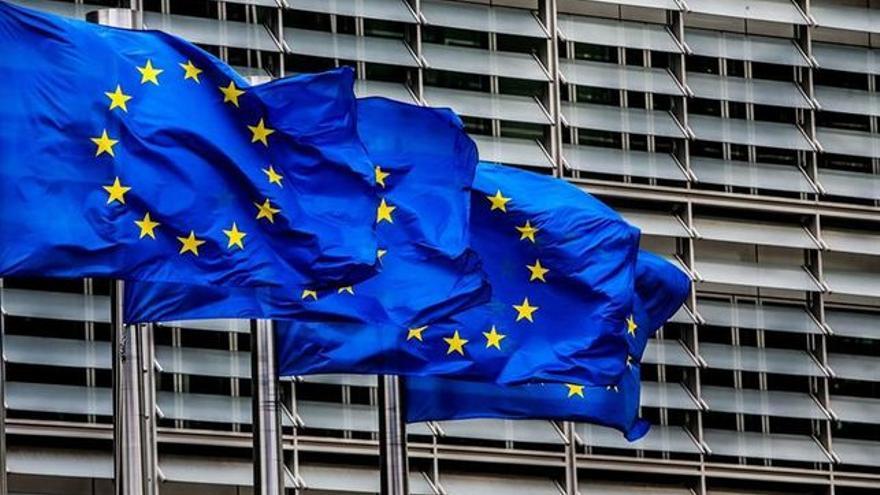 Banderas de la Unión Europea en Bruselas