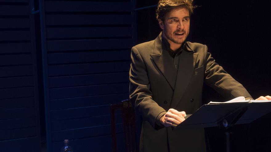 El actor José Manuel Seda, durante una función de 'Así es si así fue' / Foto: Luis Malibrán.