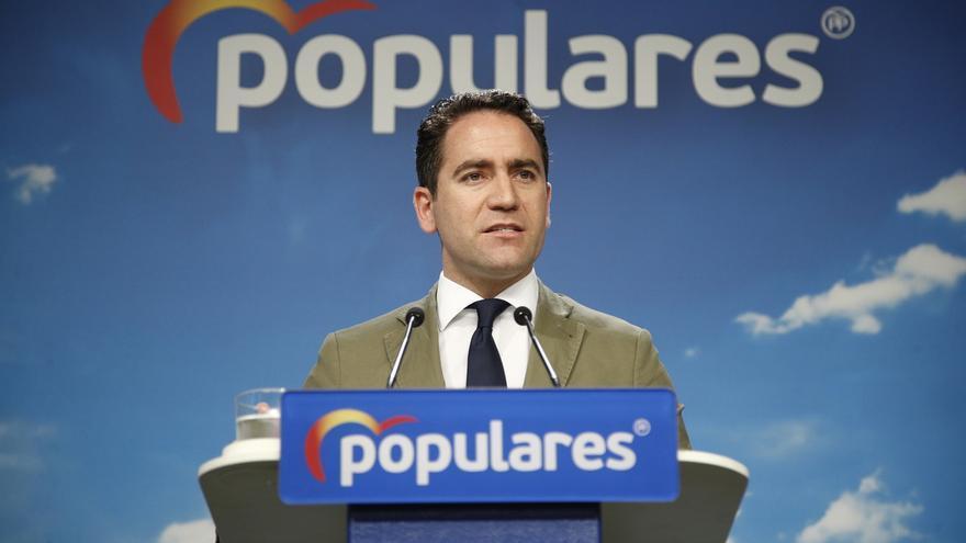 Teodoro García Egea ha protagonizado la rueda de prensa posterior al Comité de Dirección del PP.