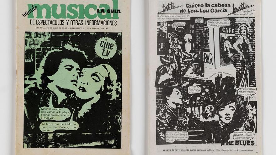IVAM Cómic Quiero la cabeza de Lou Lou García, Revista Mundo musical, n 6770, València, 1982