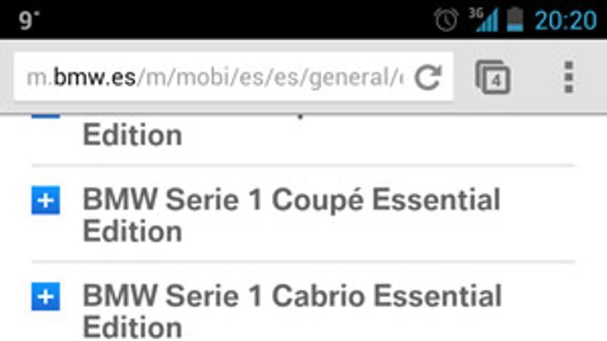 Web móvil BMW