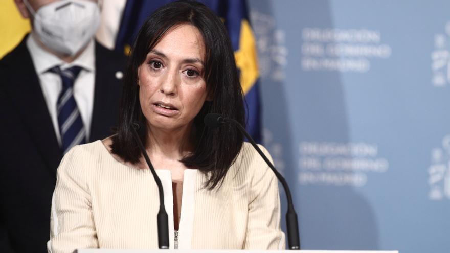 Archivo - La nueva delegada del Gobierno en la Comunidad de Madrid, Mercedes González, interviene durante la toma de posesión para dicho cargo, en la sede de la Delegación del Gobierno, Madrid, (España), a 31 de marzo de 2021.