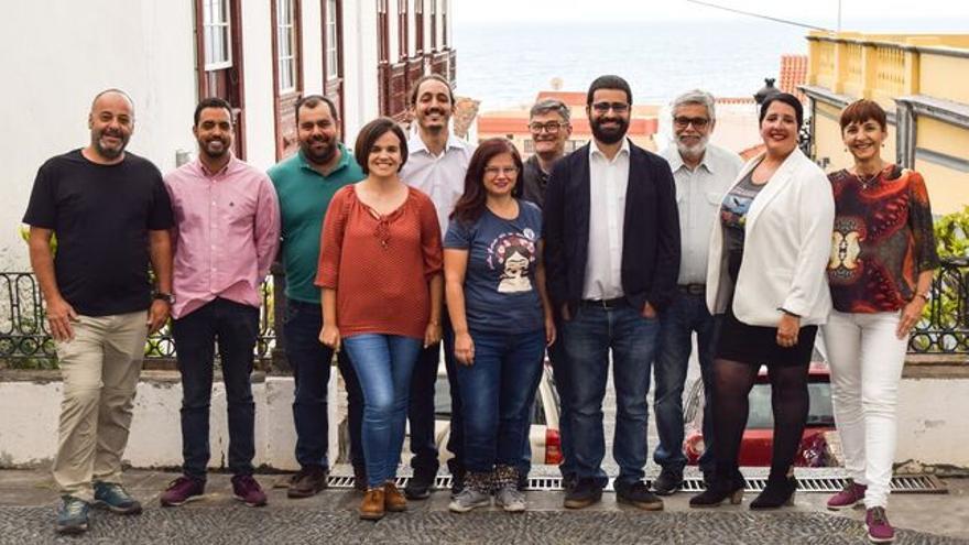 Miembros de IUC en La Palma.