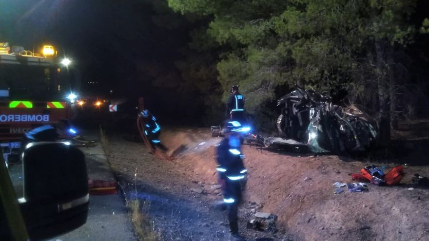Dos fallecidos en un accidente de tráfico en Caravaca