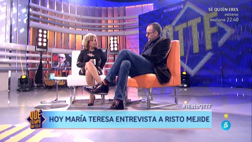 Risto Mejide y María Teresa Campos en '¡Qué tiempo tan feliz!'
