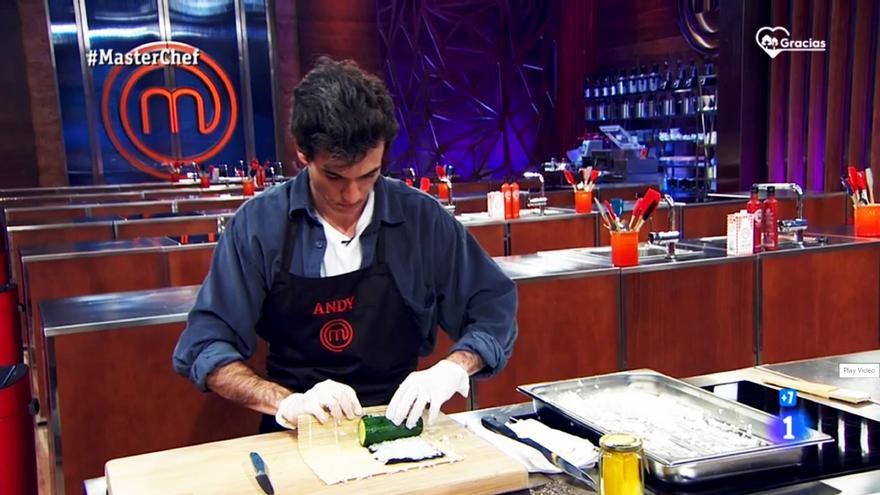 Andy, en la prueba de eliminación de 'Masterchef'