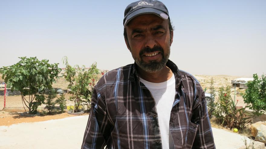 Abu Atala, el portavoz de esa comunidad/ Fotografía: Ana Garralda