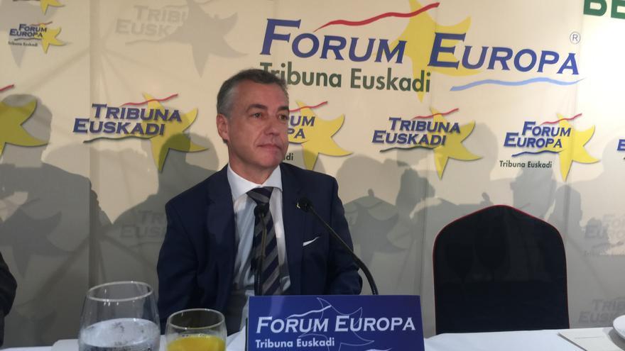 El lehendakari Urkullu durante el Forum Europa
