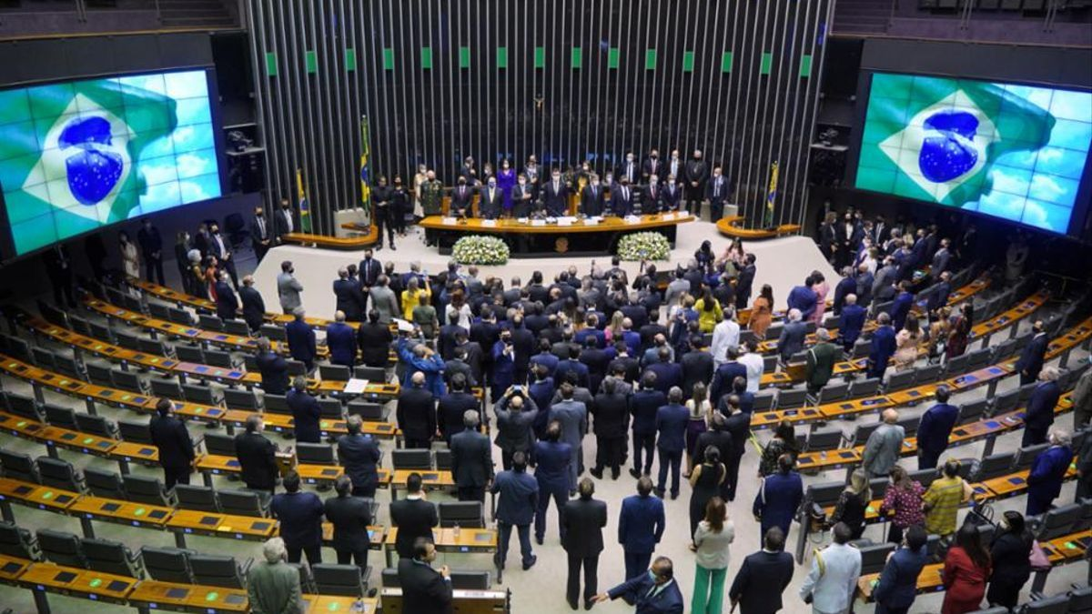 Sesión de inauguración del nuevo Congreso brasileño