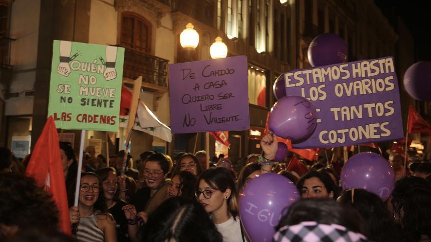 Manifestación en Las Palmas de Gran Canaria el pasado 8 de marzo por el día de la mujer.