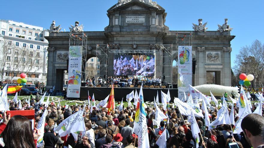 Protesta antiabortista en Madrid. MERCEDES DOMENECH