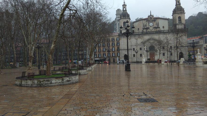 Lluvia en Euskadi.
