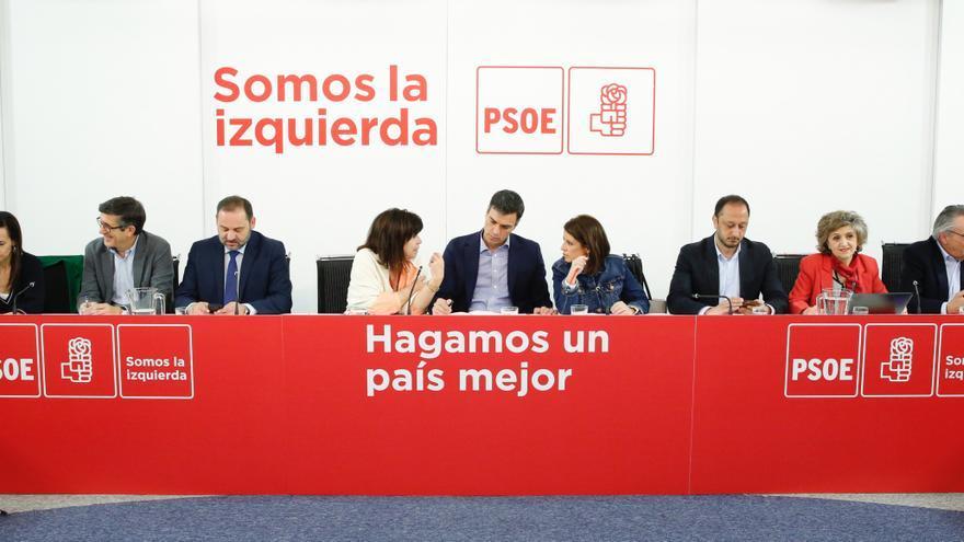 Pedro Sánchez encabeza una reunión de la Ejecutiva del PSOE.