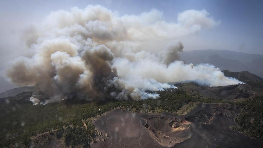 Imagen de archivo del incendio registrado en La Palma el pasado mes de agosto.