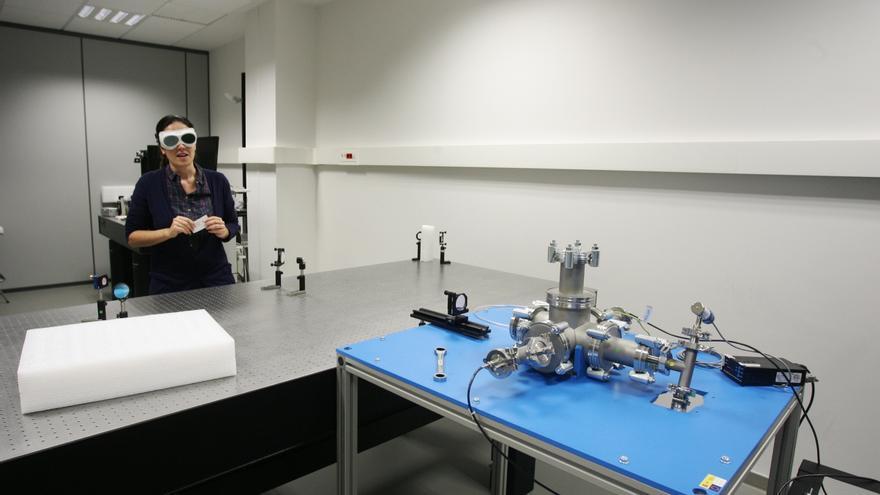 El proyecto 'Sigma', en el momento de ser presentado ayer en el Parque Científico de la Universidad de Salamanca.