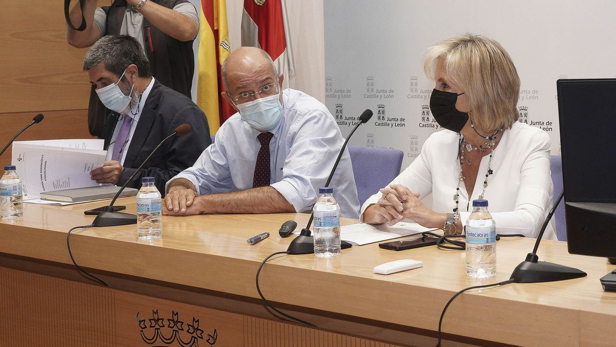 Manuel Mitadiel, Francisco Igea y Verónica Casado.