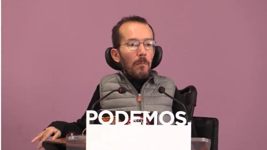 Echenique ve dos miradas en Podemos: los que hablan en positivo de su propuesta y quienes critican la de los demás