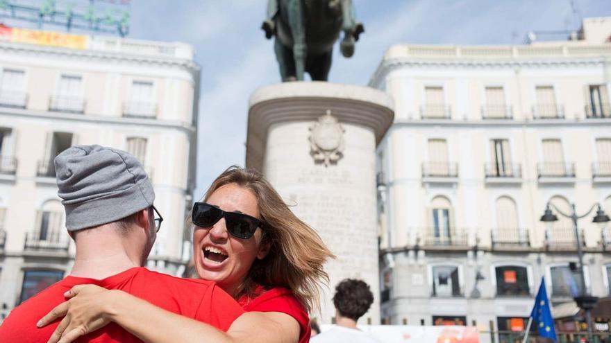 Virginia López, miembro del Coolectivo Coordinador de DiEM25, formado por 12 personas.
