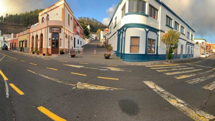 Calles vacías en Fuencaliente.