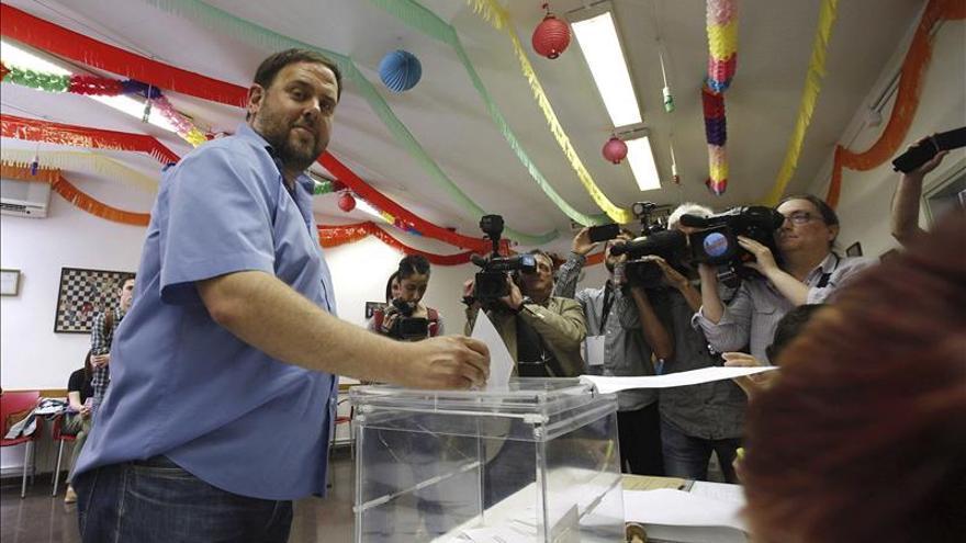 Oriol Junqueras (ERC) crece en su ayuntamiento, donde entra Ciudadanos