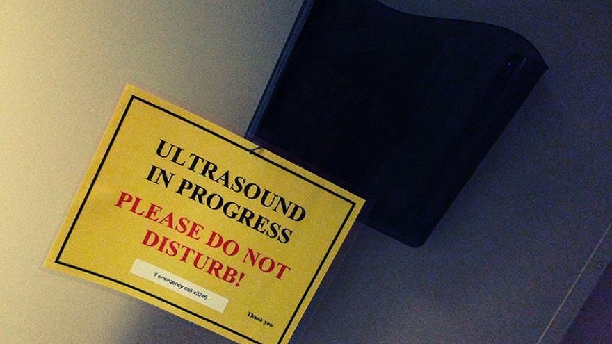 Ultrasound in progress