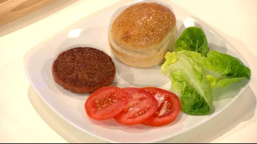 Esta es la hamburguesa producida en laboratorio