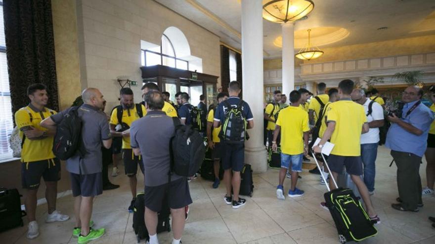 La plantilla isleña ha quedado concentrada este domingo por la tarde en un hotel del municipio de Mogán