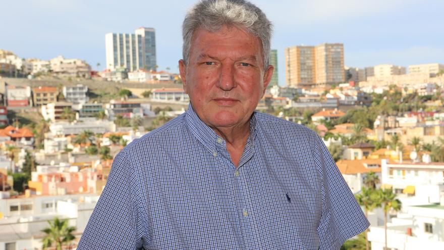 El candidato de Nueva Canarias a la Alcaldía de Las Palmas de Gran Canaria, Pedro Quevedo