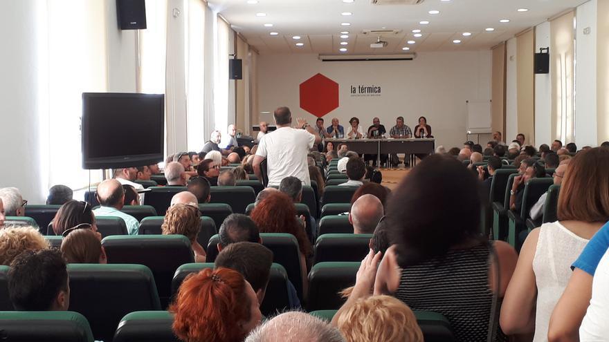 Los trabajadores, durante la asamblea | N.C.