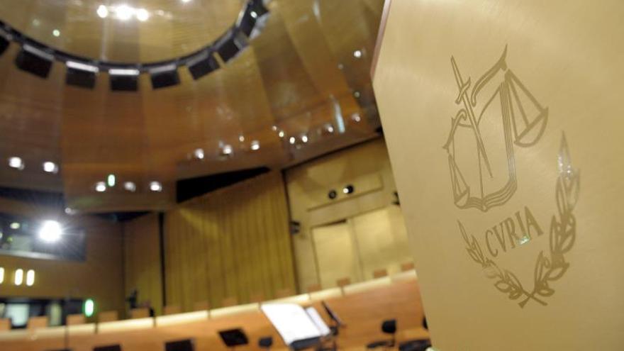 Sala del Tribunal de Justicia de la Unión Europea.