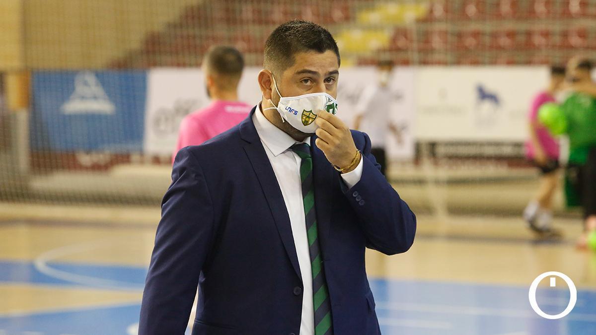 Josan González durante el encuentro ante Antequera