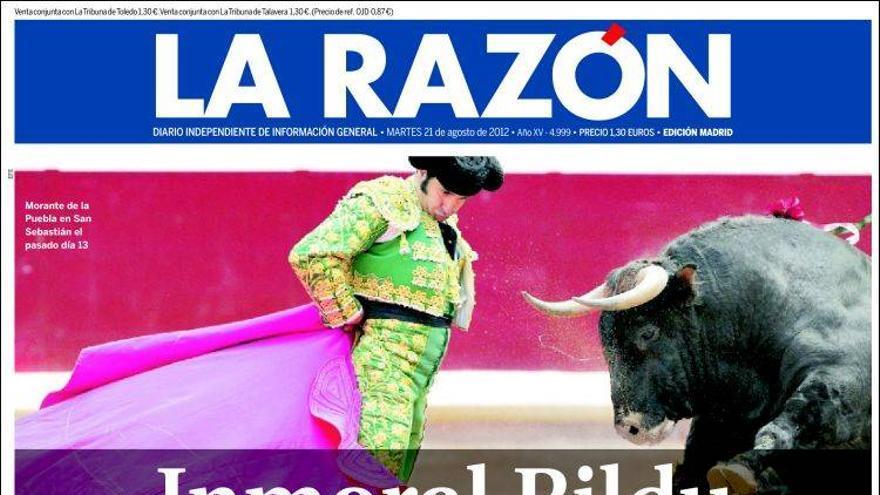 De las portadas del día (21/08/2012) #7