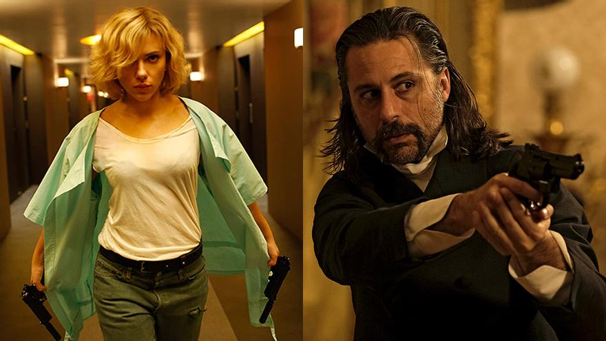 Scarlett Johansson en 'Lucy' y Hugo Silva en 'El Ministerio del Tiempo'