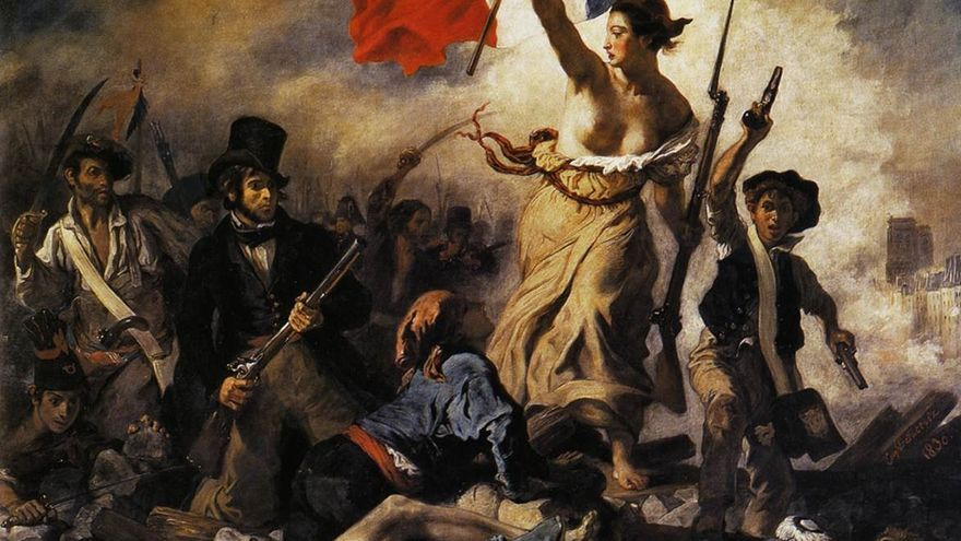 'La libertad guiando al pueblo', obra de Eugène Delacroix