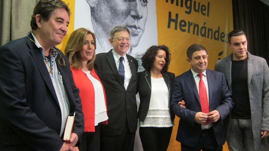 """Díaz reivindica para la actualidad la valentía de Miguel Hernández: """"Hoy hace más falta que nunca"""""""