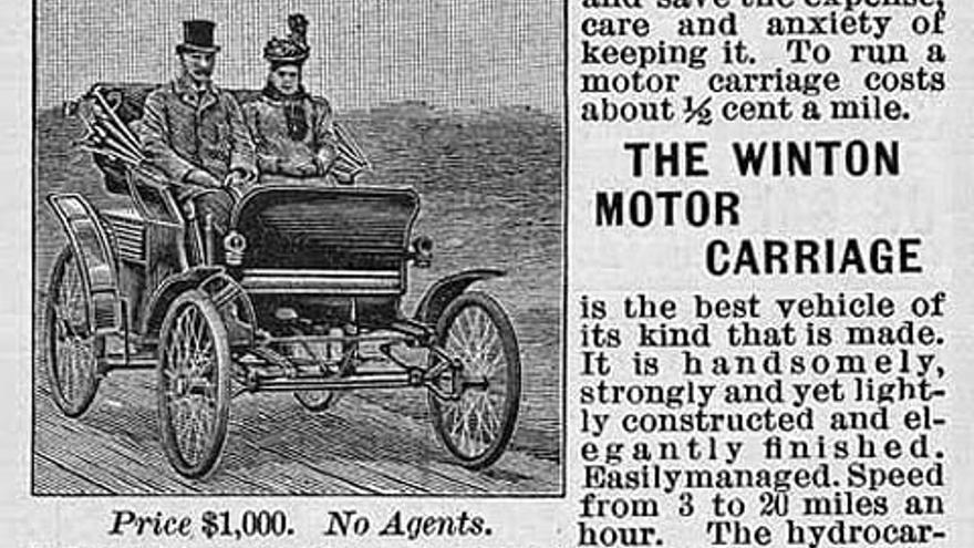 El primer anuncio de un coche invitaba a renunciar al caballo