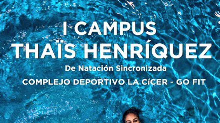 Thais Henriquez en el cartel promocional del I Campus de sincronizada en Gran Canaria. (twitter oficial de THais Henriquez).